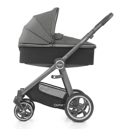 BabyStyle Oyster 3 Mercury (City Grey Chassis) with Carrycot - Pushchair Expert