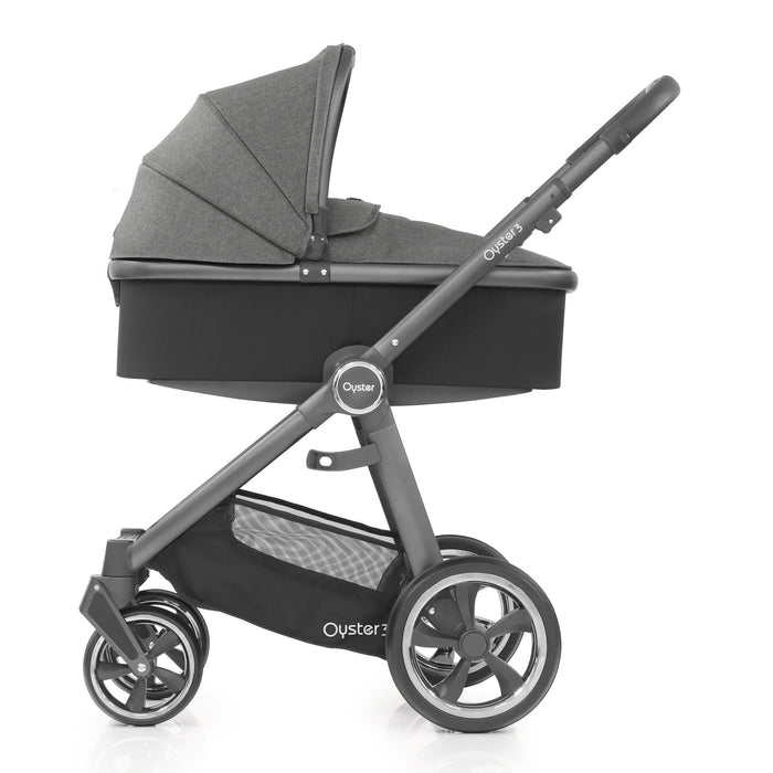 BabyStyle Oyster 3 Mercury (City Grey Chassis) Luxury Bundle with Maxi-Cosi Cabriofix