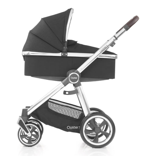 BabyStyle Oyster 3 Caviar (Mirror Chassis) with Carrycot - Pushchair Expert