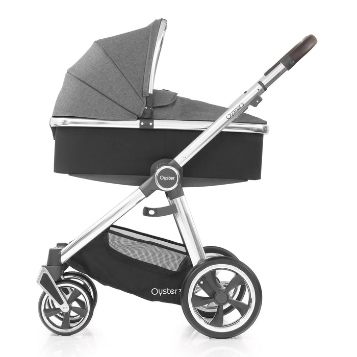 BabyStyle Oyster 3 Mercury (Mirror Chassis) Luxury Bundle with Maxi-Cosi Cabriofix - Pushchair Expert
