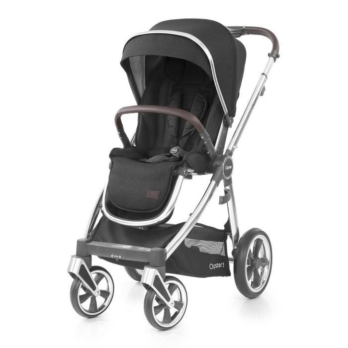 BabyStyle Oyster 3 Essential Bundle - Caviar (Mirror chassis) - Pushchair Expert