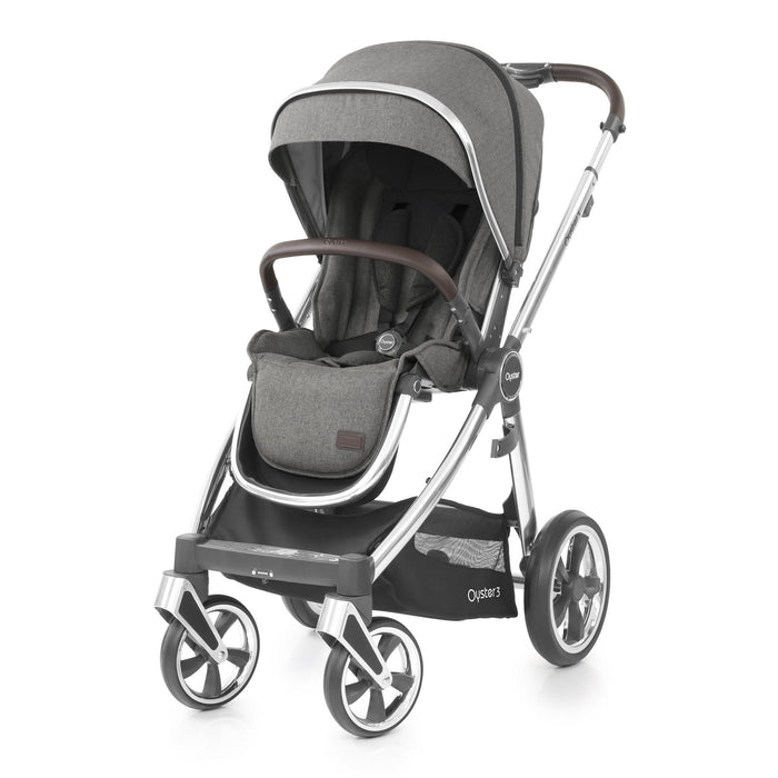 BabyStyle Oyster 3 Mercury (Mirror Chassis) Ultimate Bundle with Maxi-Cosi Cabriofix - Pushchair Expert