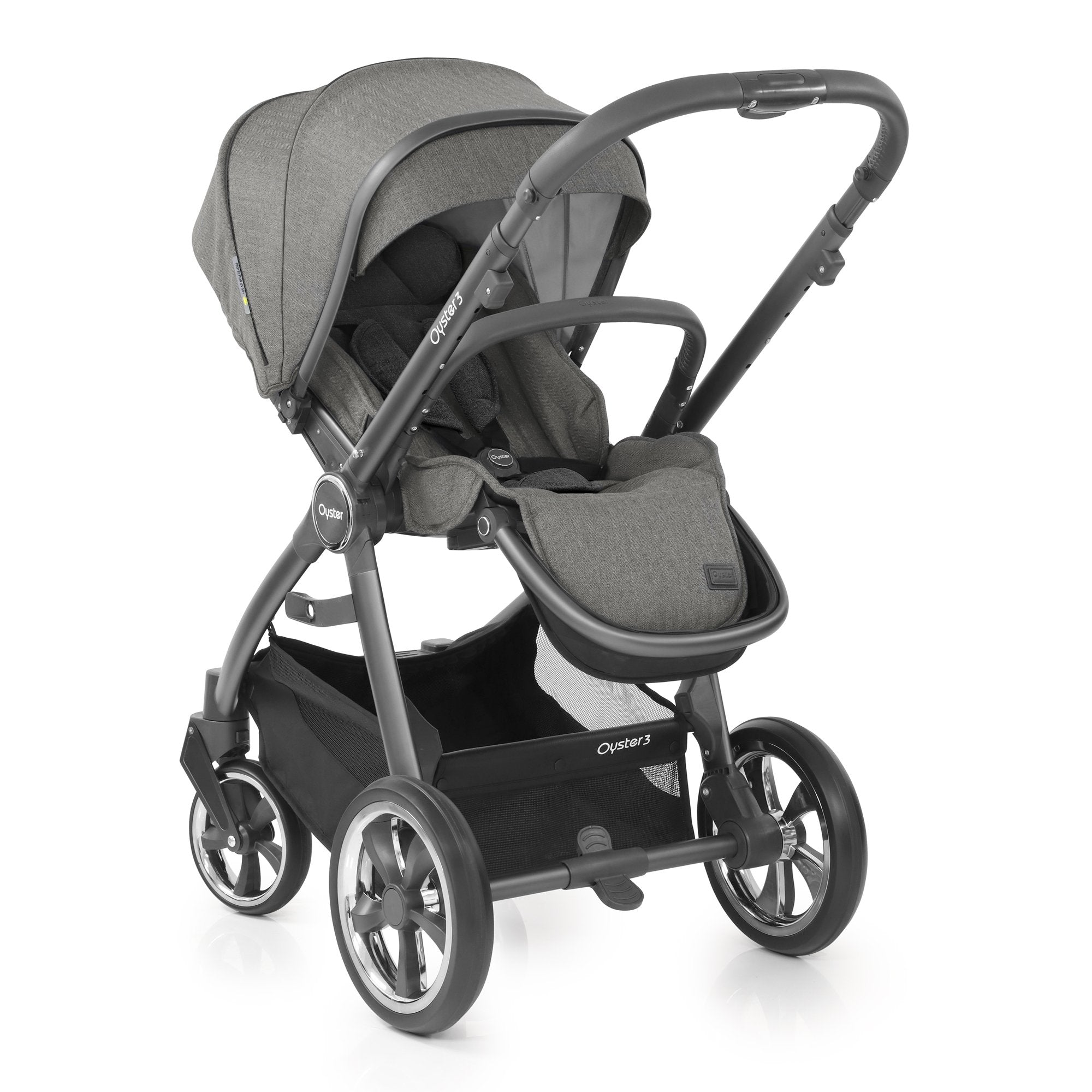 BabyStyle Oyster 3 Mercury (City Grey Chassis) Ultimate Bundle with Maxi-Cosi Cabriofix - Pushchair Expert