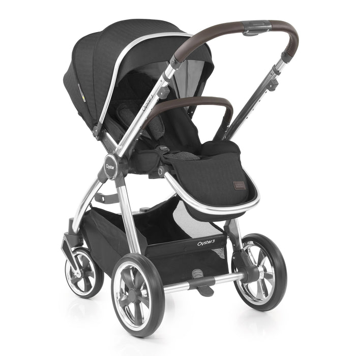 BabyStyle Oyster 3 Caviar (Mirror Chassis) - Pushchair Expert