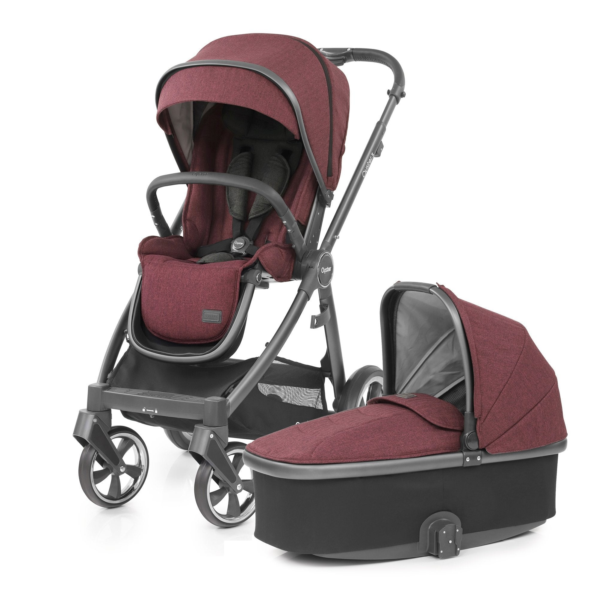 BabyStyle Oyster 3 Berry 9-piece Bundle - Pushchair Expert
