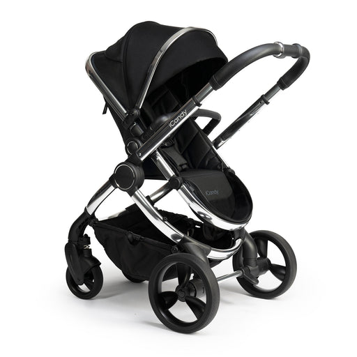 iCandy Peach - Chrome/Black Twill - Pushchair Expert