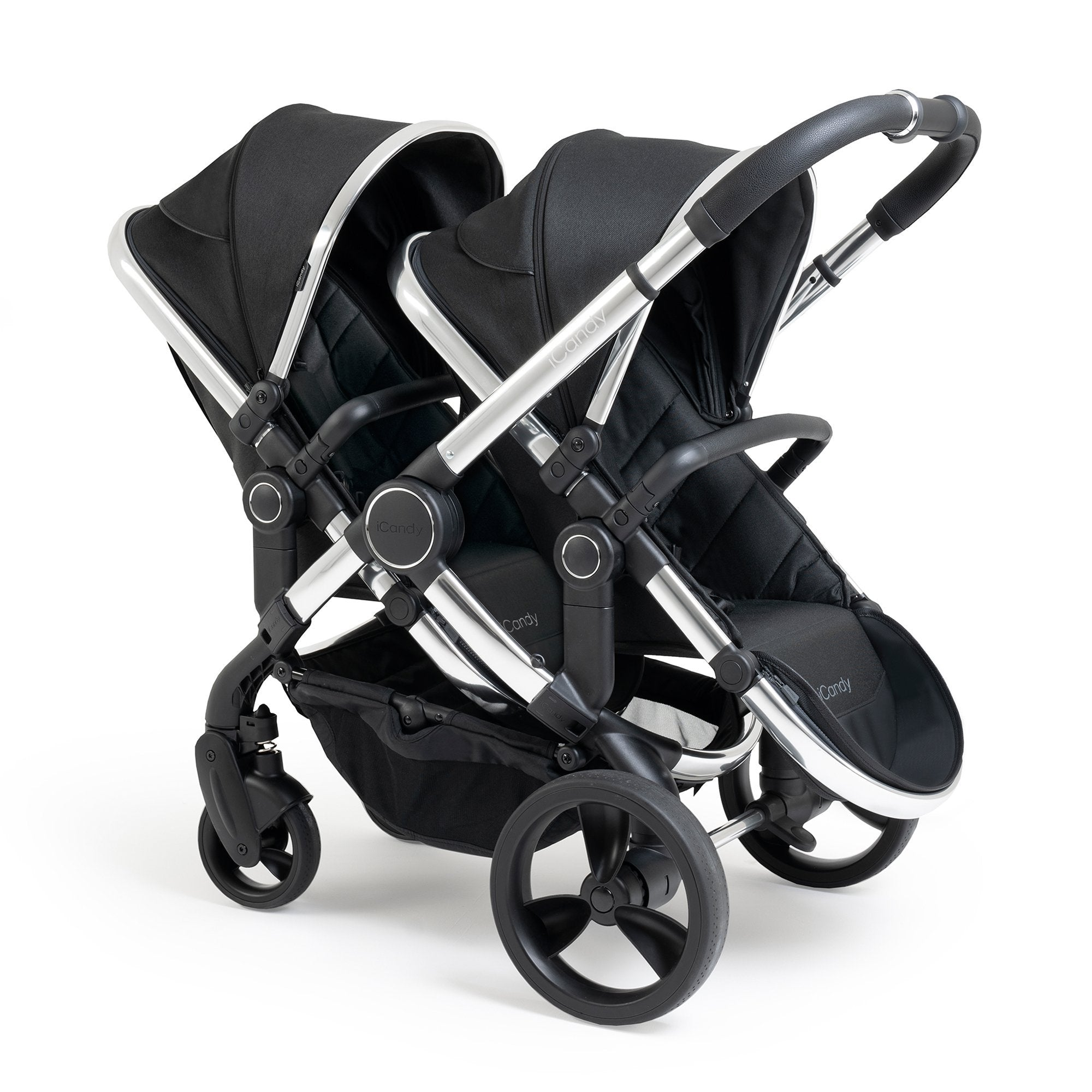 iCandy Peach Double - Chrome/Black Twill - Pushchair Expert