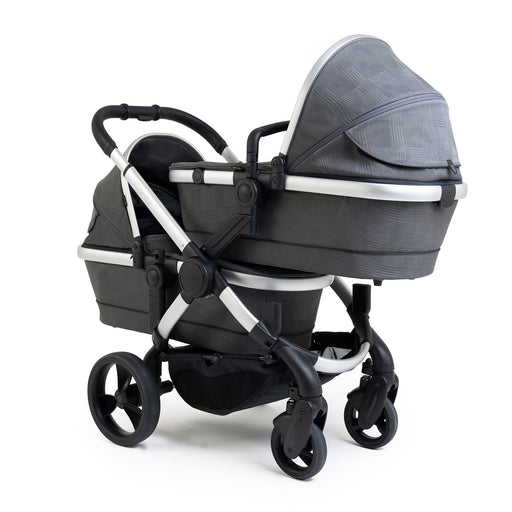 iCandy Peach Twin - Satin/Dark Grey Check - Pushchair Expert