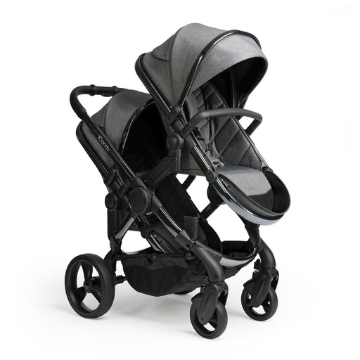 iCandy Peach Double - Phantom/Dark Grey Twill - Pushchair Expert