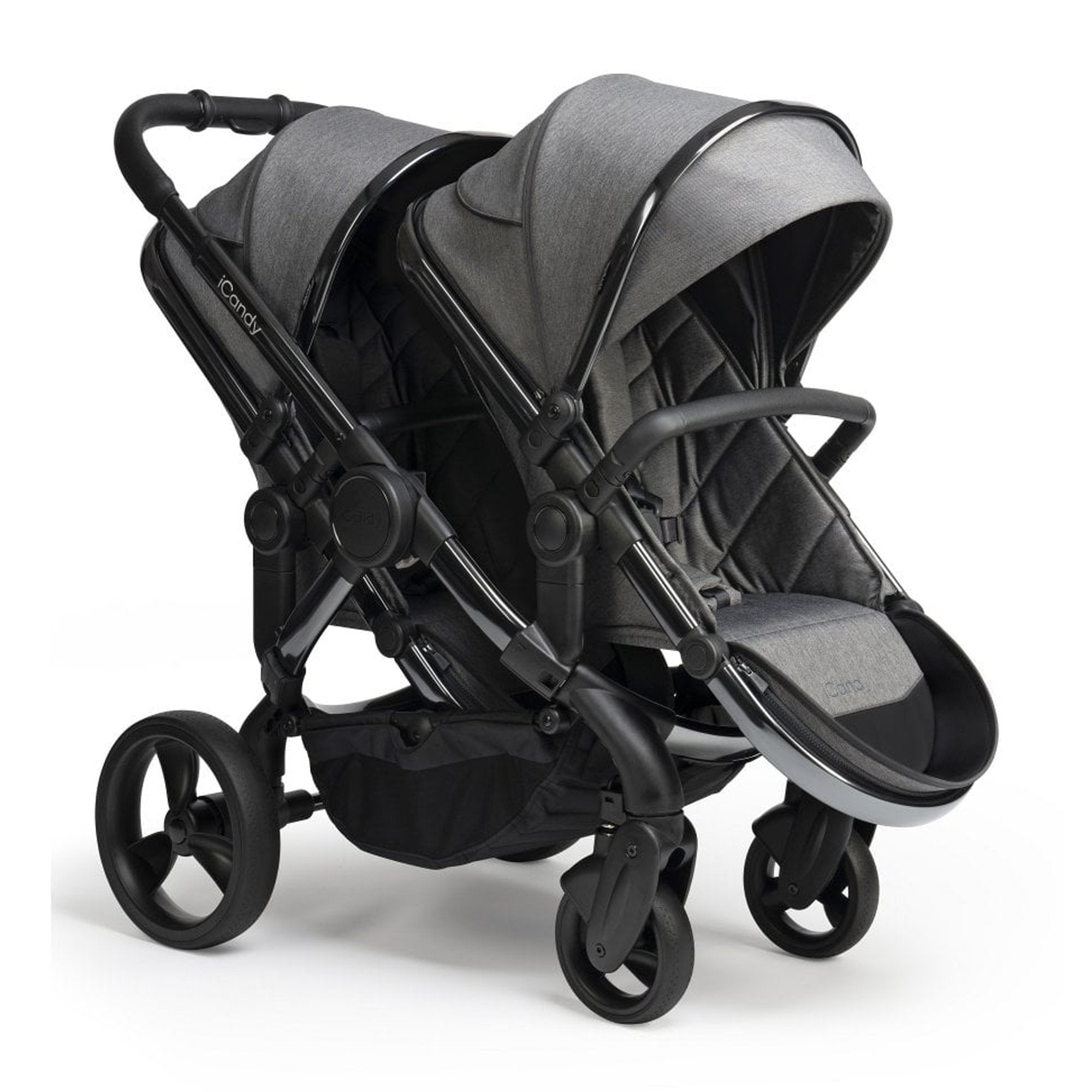 iCandy Peach Twin - Phantom/Dark Grey Twill - Pushchair Expert