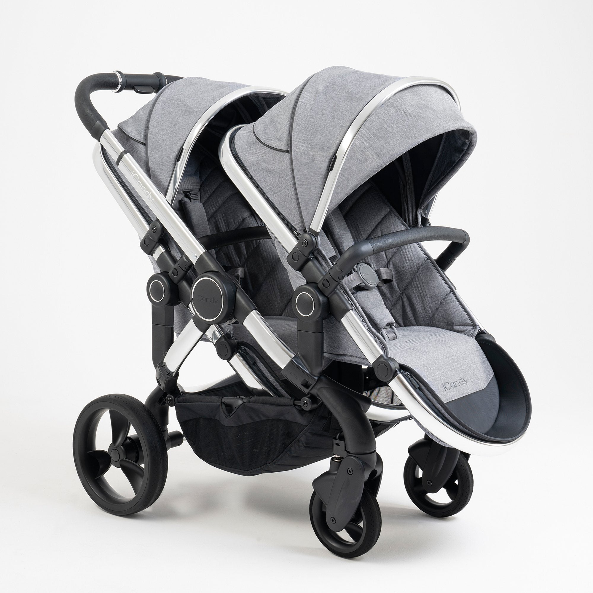 iCandy Peach Double - Chrome/Light Grey Check - Pushchair Expert
