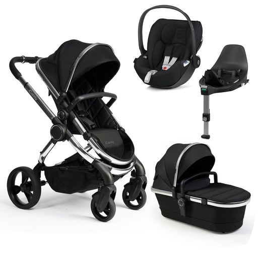 iCandy Peach travel system bundle with Cybex Cloud Z - Chrome/Black Twill