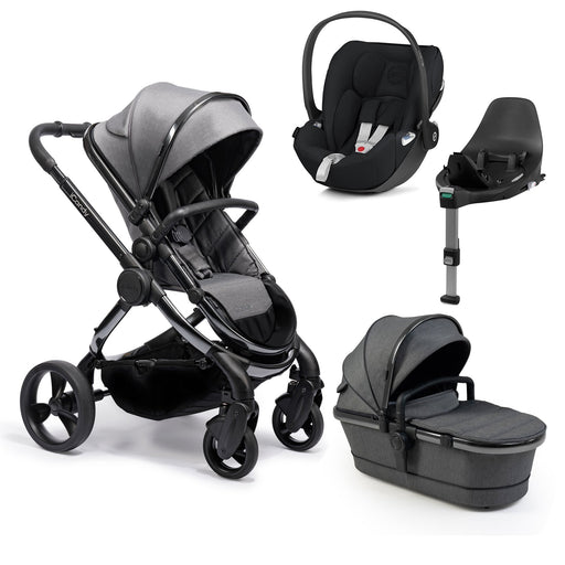 iCandy Peach travel system bundle with Cybex Cloud Z - Phantom/Dark Grey Twill