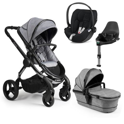 iCandy Peach travel system bundle with Cybex Cloud Z - Phantom/Light Grey Check