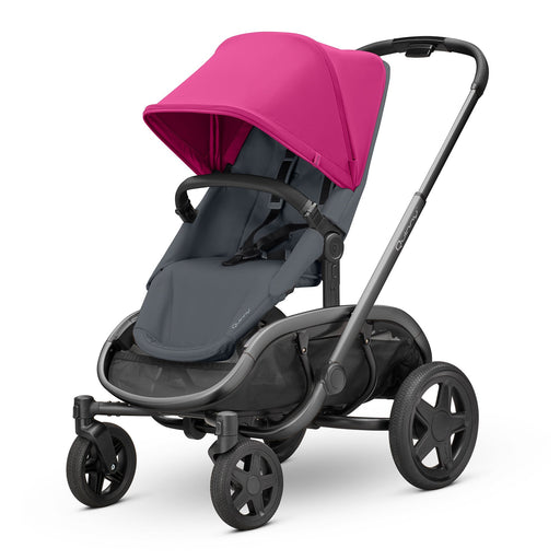 Quinny Hubb Pink on Graphite with Graphite Frame - Pushchair Expert