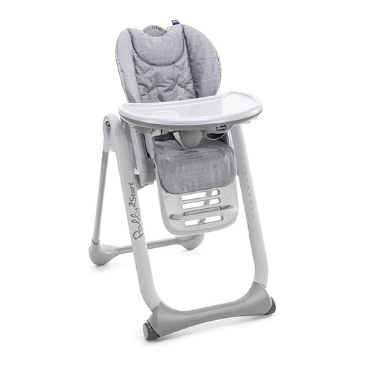 Chicco Polly2Start 4 Wheel Highchair - Happy Silver