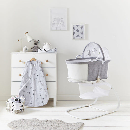 Purflo PurAir Breathable Bassinet Grey Marl
