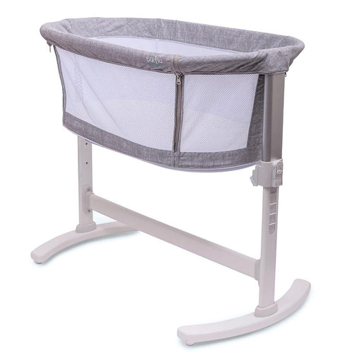 Purflo PurAir Breathable Crib Marl Grey with FREE extra fitted sheet