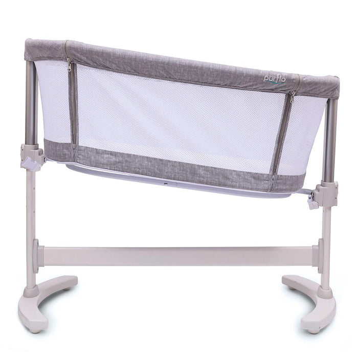 Purflo PurAir Breathable Crib Marl Grey with FREE extra fitted sheet - Pushchair Expert