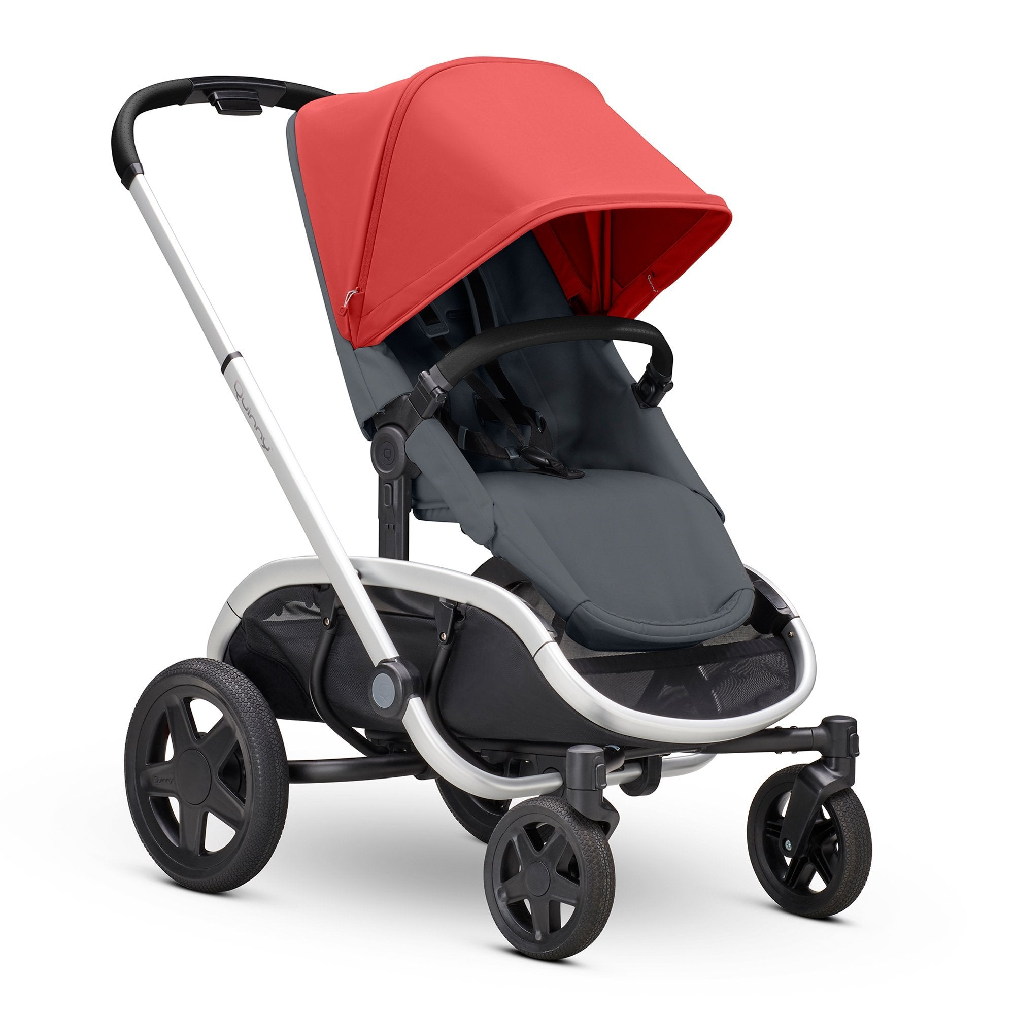 Quinny Hubb Red on Graphite with Silver Frame - Pushchair Expert