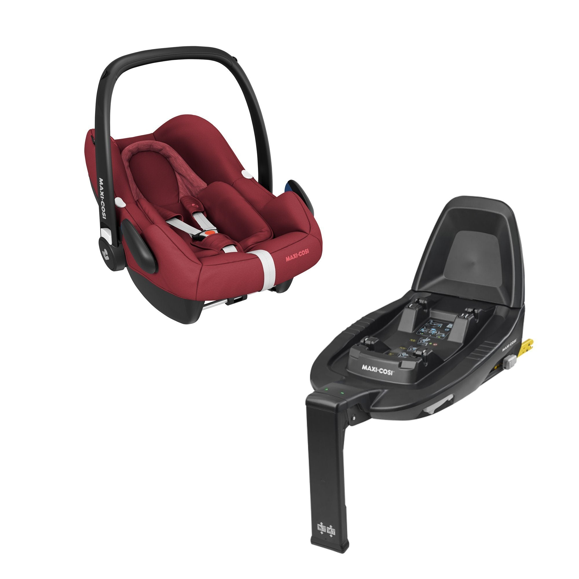Maxi-Cosi Rock i-Size infant car seat and FamilyFix2 base - Essential Red
