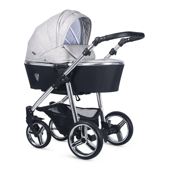 Venicci Silver 3-in-1 Travel System - Wild Grey - Pushchair Expert