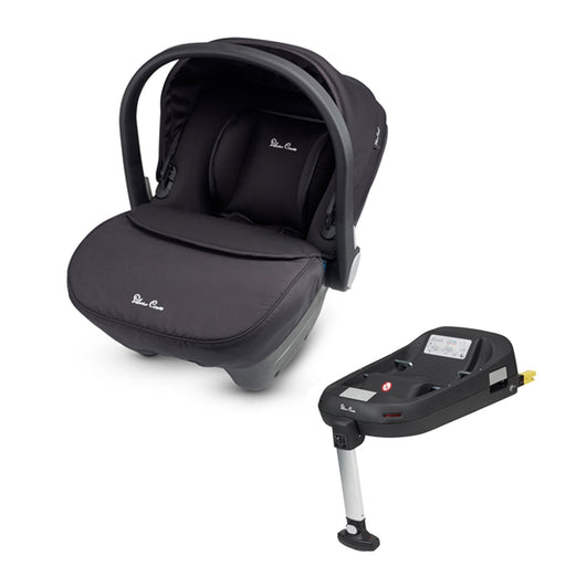 Silver Cross Simplicity Group 0+ infant car seat and Simplifix ISOFIX Base - Black - Pushchair Expert