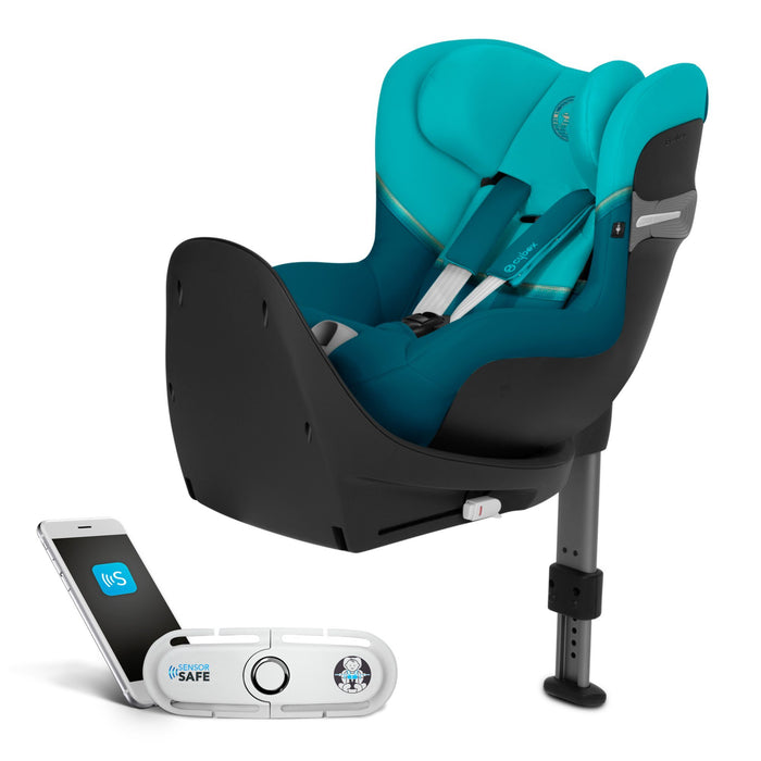 Cybex Sirona S i-Size 0-4 years car seat with SensorSafe - River Blue - Pushchair Expert