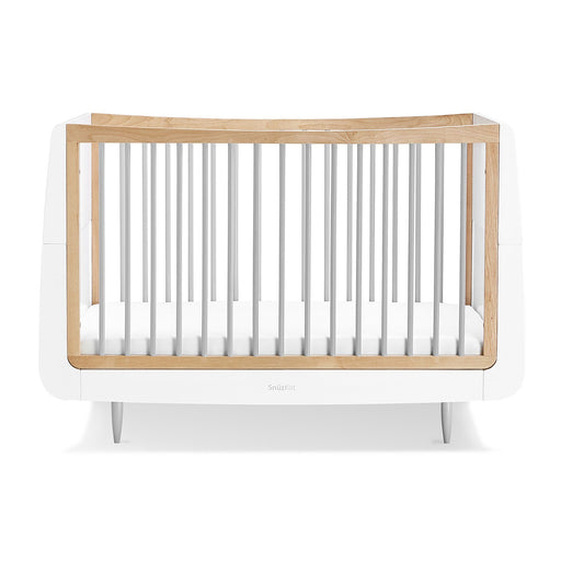 SnuzKot Skandi Cot Bed – Grey + FREE toddler rails