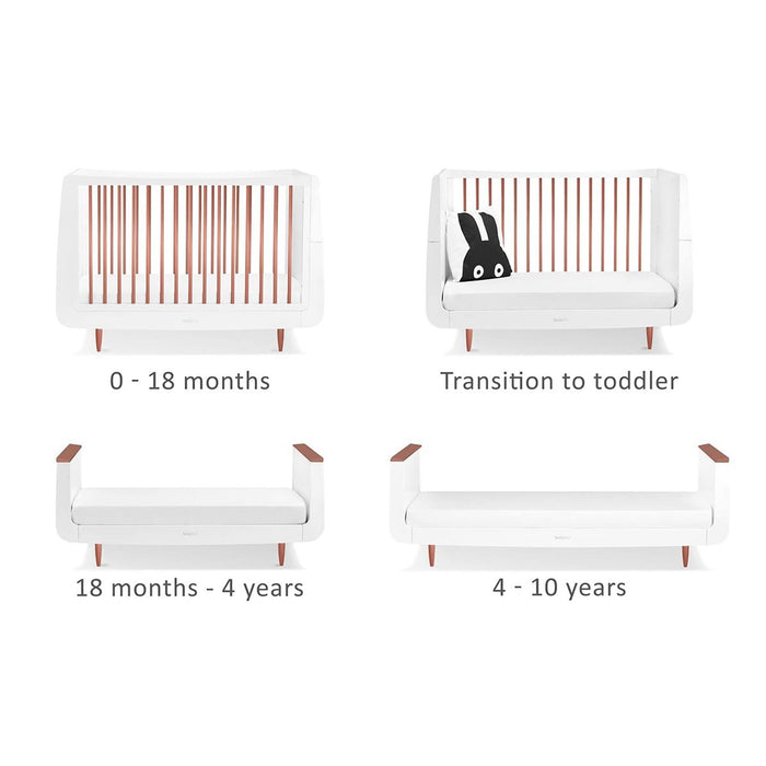 SnuzKot Skandi Cot Bed – Metallics Rose Gold