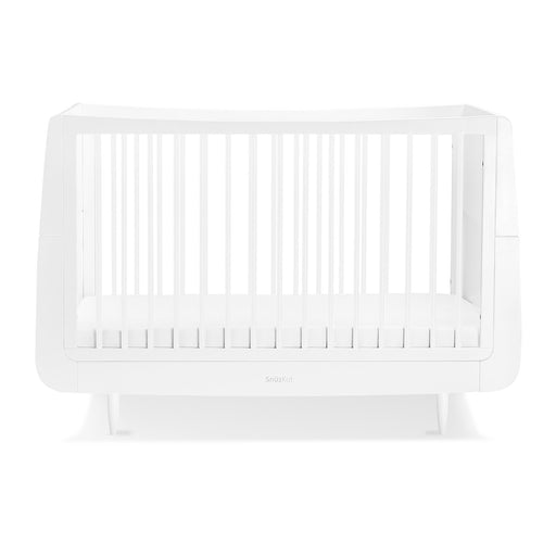 SnuzKot Skandi Cot Bed – White + FREE toddler rails