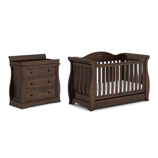 Boori Sleigh Royale 2-piece nursery set (cot bed/dresser) - Coffee