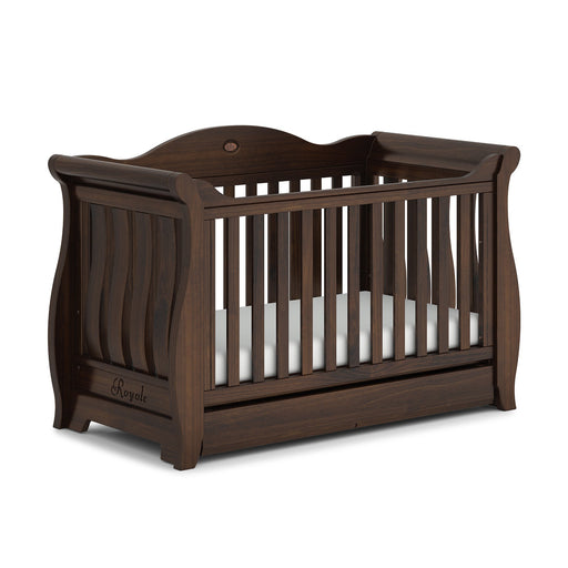 Boori Sleigh Royale Cot Bed - Coffee