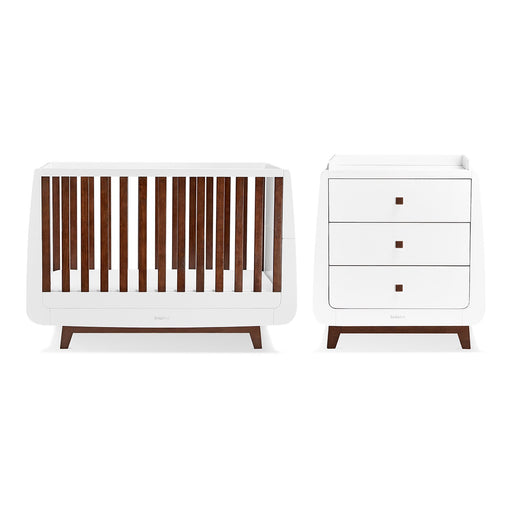 SnuzKot Luxe 2 Piece Nursery Furniture Set - Espresso + FREE toddler rails