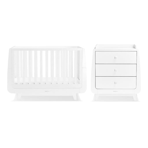 SnuzKot Luxe 2 Piece Nursery Furniture Set – White + FREE toddler rails