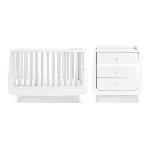 SnuzKot Luxe 2 Piece Nursery Furniture Set – Whitewash