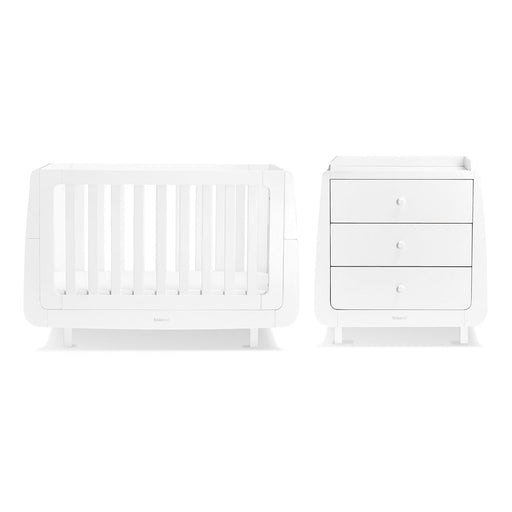 SnuzKot Mode 2 Piece Nursery Furniture Set – White + FREE toddler rails