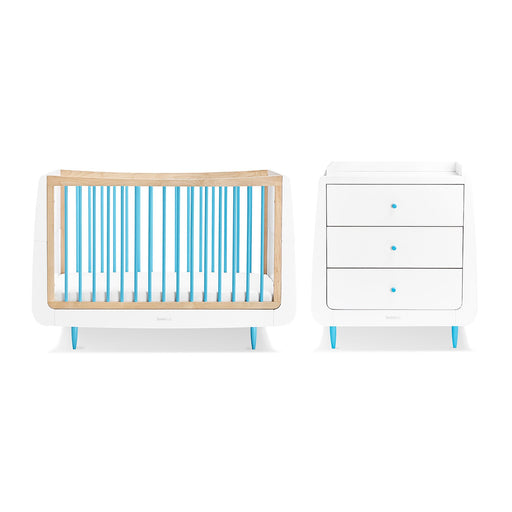 SnuzKot Skandi 2 Piece Nursery Furniture Set – Blue