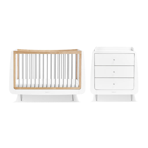 SnuzKot Skandi 2 Piece Nursery Furniture Set – Grey + FREE toddler rails