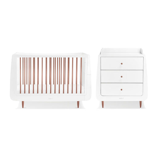 SnuzKot Skandi 2 Piece Nursery Furniture Set – Metallics Rose Gold