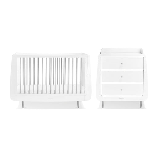 SnuzKot Skandi 2 Piece Nursery Furniture Set – Metallics Silver
