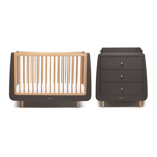 SnuzKot Skandi 2 Piece Nursery Furniture Set – Slate