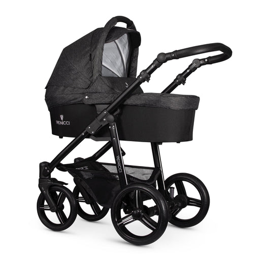 Venicci Soft 3-in-1 Travel System Black Chassis - Denim Black - Pushchair Expert