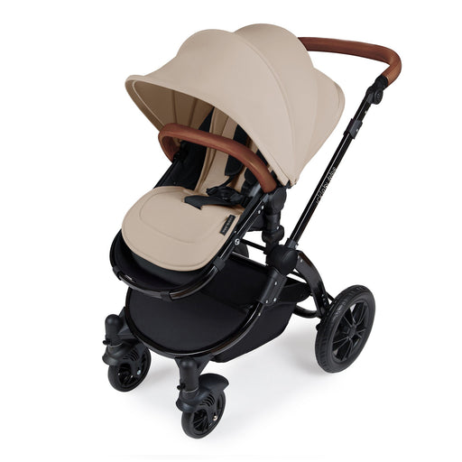 Ickle Bubba Stomp V3 2-in-1 - Sand on Black - Pushchair Expert