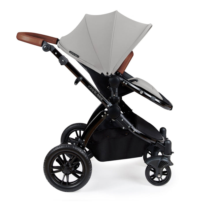 Ickle Bubba Stomp V3 2-in-1 - Silver on Black - Pushchair Expert