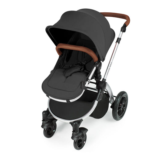 Ickle Bubba Stomp V3 2-in-1 - Graphite on Silver - Pushchair Expert