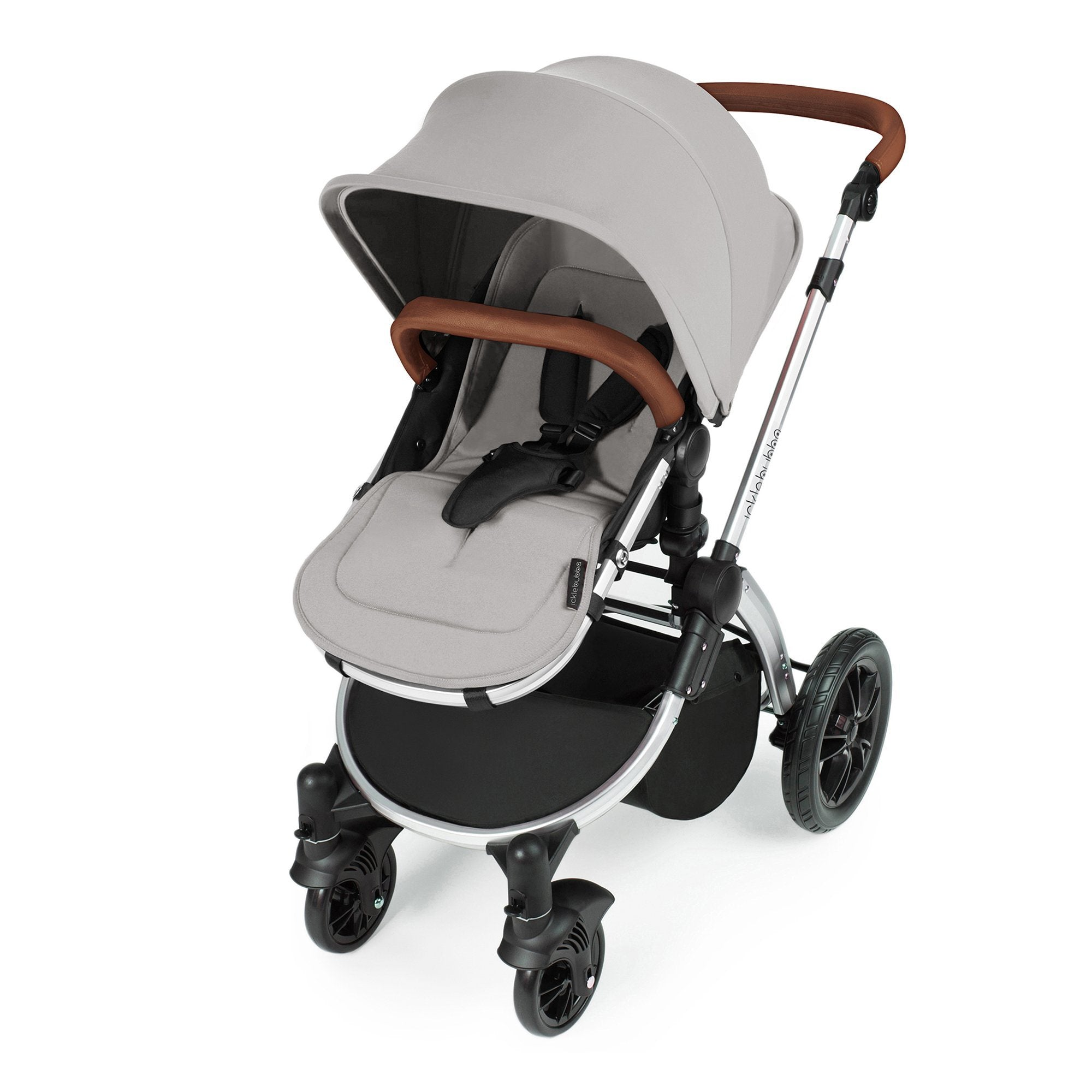 Ickle Bubba Stomp V3 Travel System with ISOFIX Base - Silver on Silver - Pushchair Expert
