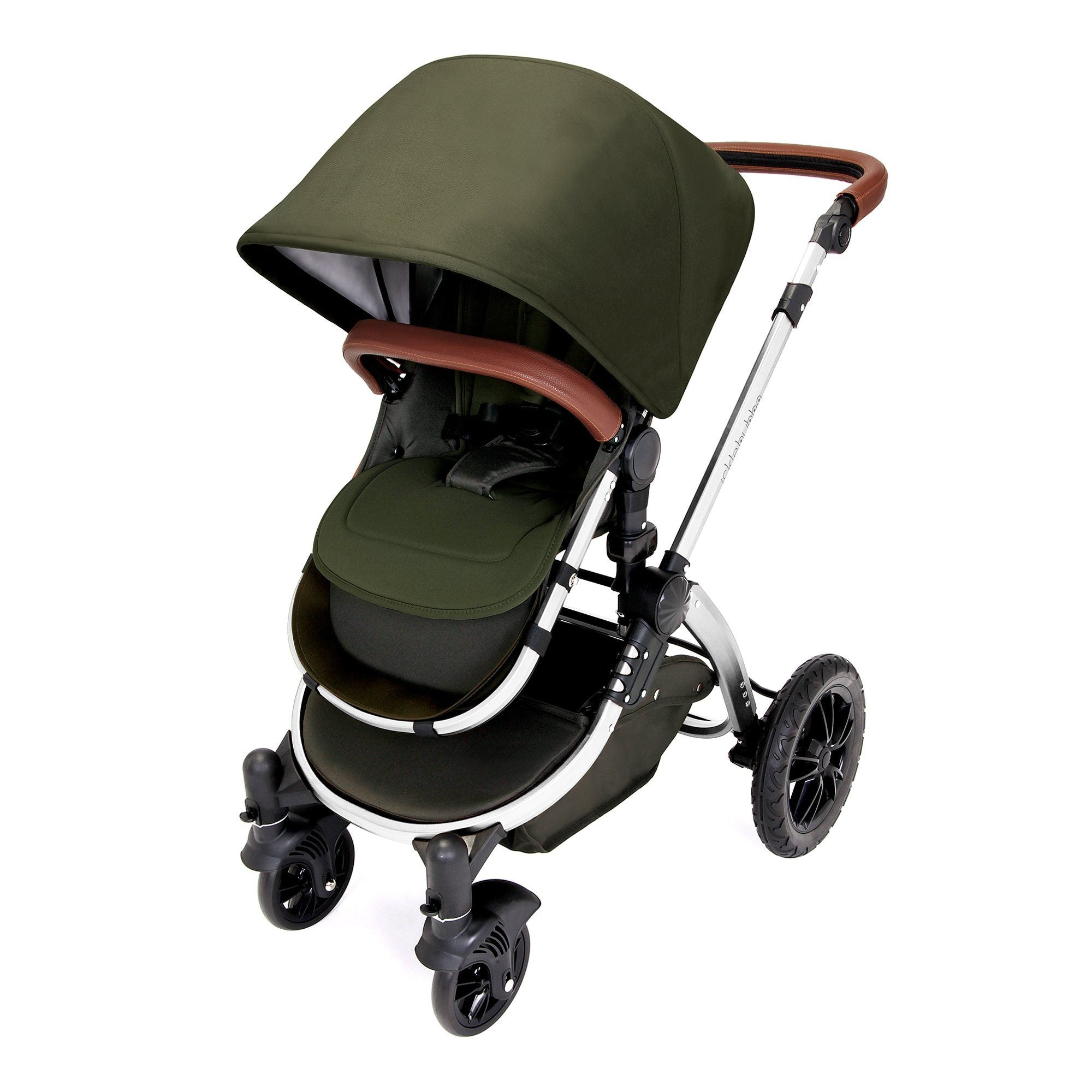 Ickle Bubba Stomp V4 Special Edition Travel System with ISOFIX Base - Woodland/Chrome - Pushchair Expert