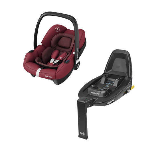 Maxi-Cosi Tinca i-Size infant car seat and FamilyFix2 base - Essential Red