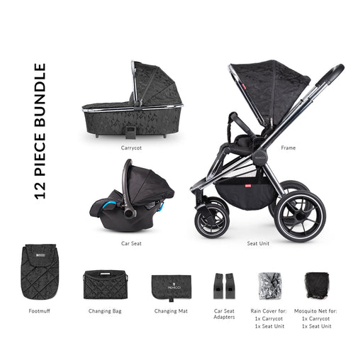 Venicci Tinum 3-in-1 Travel System - Camo Black - Pushchair Expert